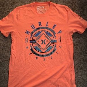 Men's orange Hurley t-shirt